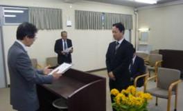 「平成21年度後期ベストティーチャー表彰式」を実施しました(2010/05/24)