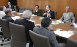 農学部長と池戸会々員の懇談会