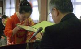 平成26年度香川大学大学院農学研究科日本の食の安全留学生特別コース修了式について