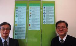 学術交流協定のプレート掲示板を設置