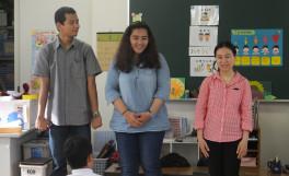 農学部留学生達が三木町氷上放課後児童クラブを訪問中!!