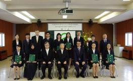 平成28年度香川大学大学院農学研究科日本の食の安全留学生特別コース修了式