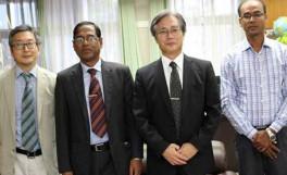 国際交流協定校バングラデシュ・シェレバングラ農科大学よりKamal Uddin Ahamed副学長来訪