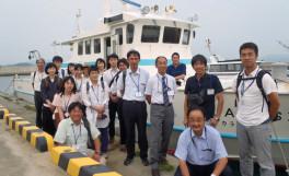 岡山県高等学校の理科教員の方々が庵治マリンステーションを訪問