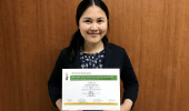 The award for an outstanding poster presentationを受賞