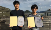 2018年度日本農芸化学会中四国支部大会にて優秀発表賞を受賞